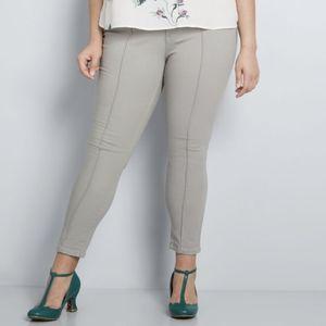Modcloth gray straight-leg pants